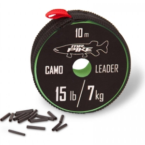 Quantum Mr.Pike Camo Coated Leader Material 10m Stahlvorfach