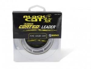 Black Cat Rubber coated Leader 20m 70Kg grau