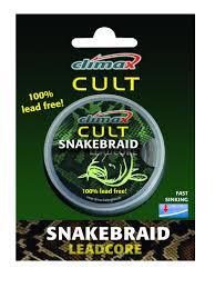 Climax Snakebraid Leadcore 40 lb silt