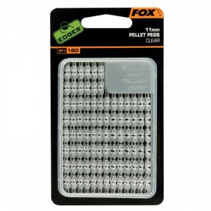Fox Edges Pellet Pegs 11mm  clear