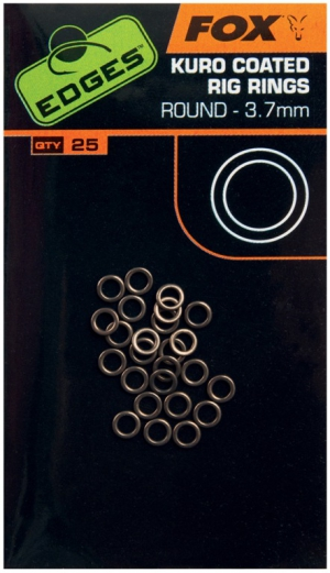 Fox - Edges Kuro Coated Rig Rings 3,7mm