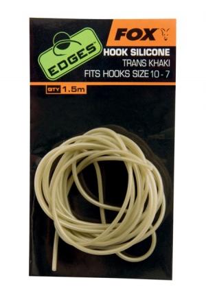 Fox Edges Hook Silicone Trans Khaki size 6-2