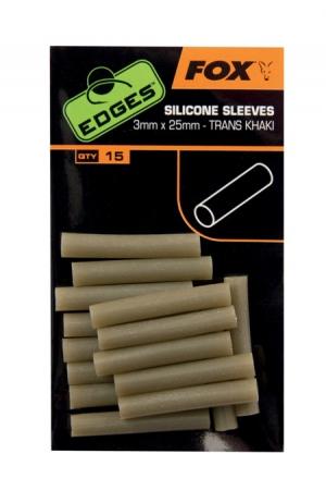 Fox Edges Silicon Sleeves 3mm x 25mm Trans Khaki