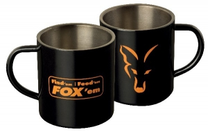 Fox Stainless Black XL Mug 400ml
