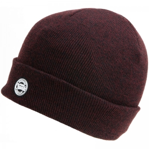 FOX Chunk Beanie Hat - Burgundy/Black Marl
