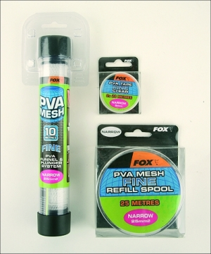 Fox PVA Mesh -  Narrow Refill Spool 10m - Fine Mesh