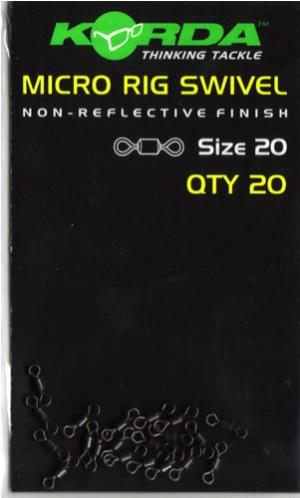 Korda Micro Rig Swivel - Pack of 20