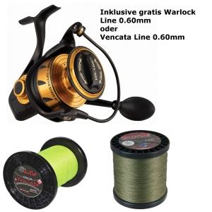 Penn Spinfisher VI 10500 inkl. gratis Unicat Warlock od. Vencata Line 0,60mm
