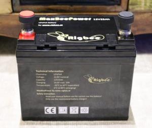 Rigbee MaxBeePower Set 12V25Ah LiFepo4 inkl. Ladegerät